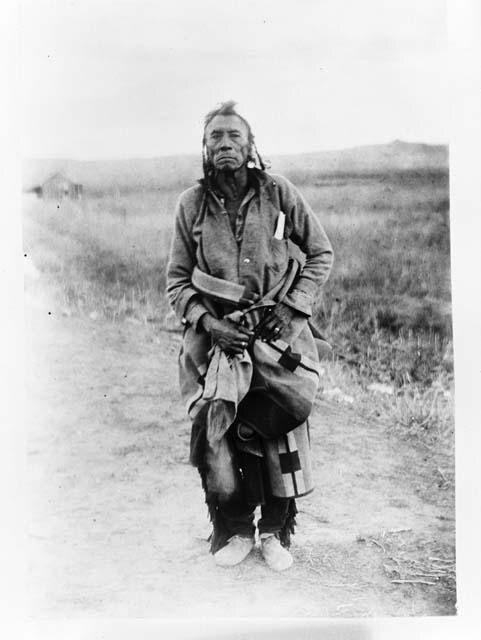 Little Wolf, Кроу. Около 1883 года. Монтана, Резевация Индейцев Кроу, рядом с рекой Биг Хорн. Fogg Art Museum, декабрь 1944. Peabody Museum of Archaeology and Ethnology at Harvard University.