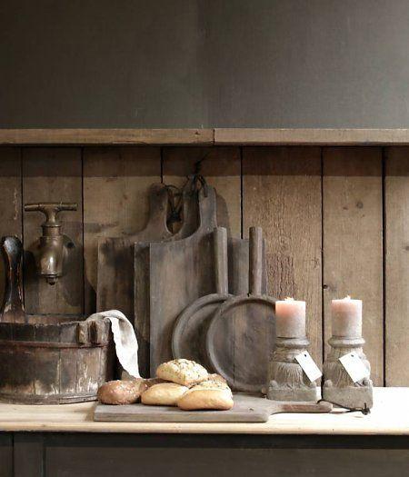 Oud houten broodplank /Chopping board Aura peeperkorn