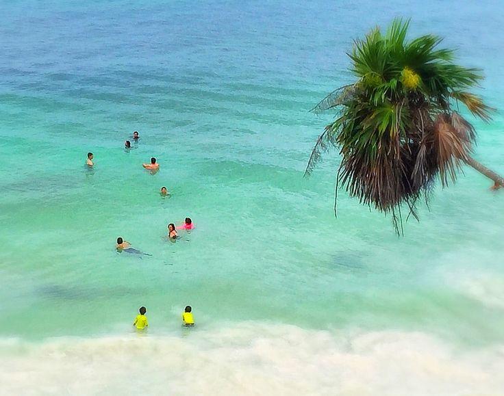 The gorgeous beach of Tulum, Mexico