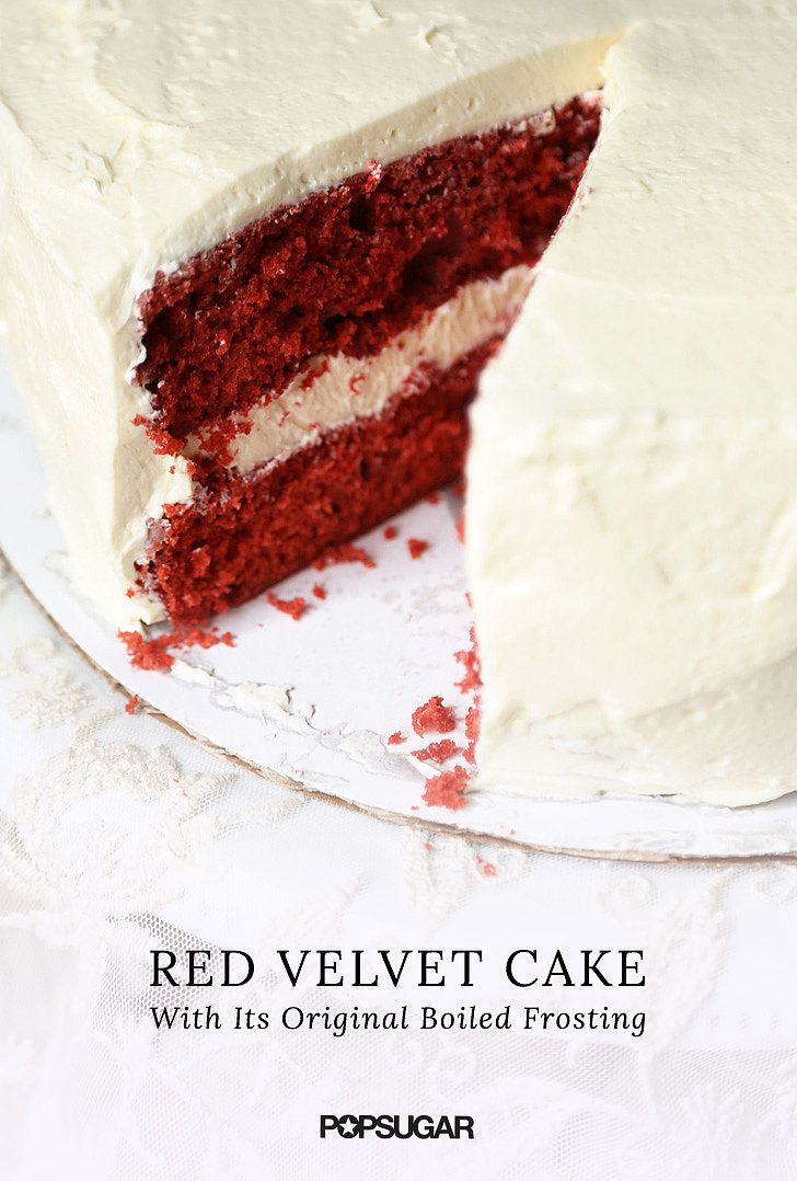 "Many have never known red velvet cake to go with anything other than cream cheese frosting — but discover this: ermine icing, aka ""boiled frosting,"" is in fact the original pairing for the crimson cake. Read the recipe and make this cake the way it was meant to be enjoyed."