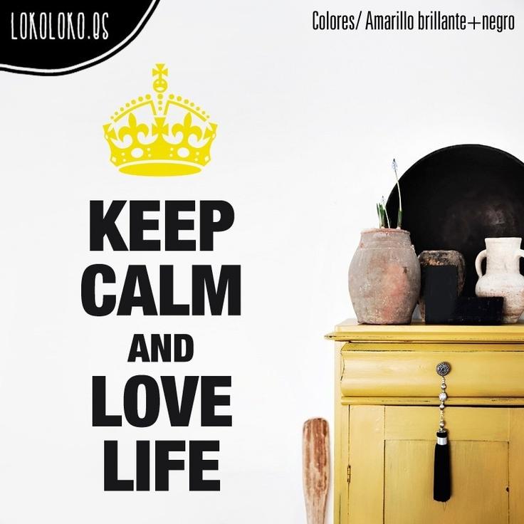 "Mantén la calma y ama la #vida, otro #mensaje #positivo de la serie ""Keep calm and..."" / Keep calm and #love #life, another #positive #message of series ""Keep calm and..."""