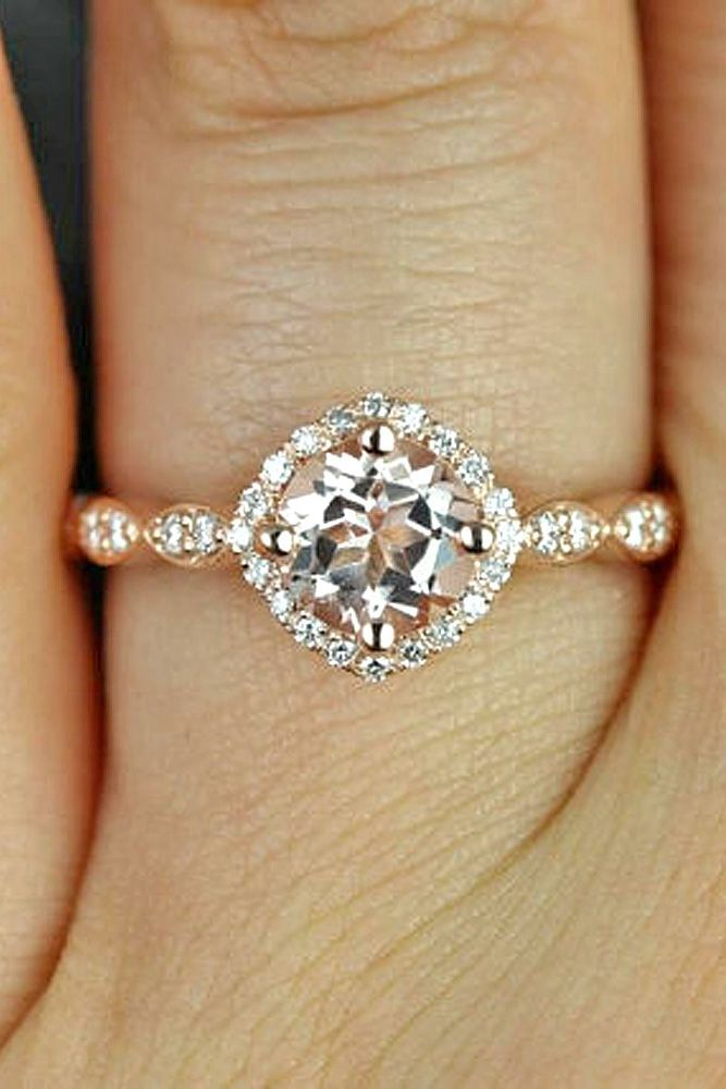18 Morganite Engagement Rings We Are Obsessed With ❤️ Morganite engagement rings can be good alternative to the traditional diamond rings. See more: http://www.weddingforward.com/morganite-engagement-rings/ #wedding #engagement #rings