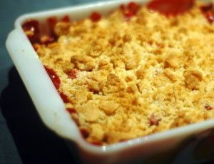 Strawberry Rhubarb Dump Cake - the easiest & fastest Rhubarb dessert you'll EVER make!