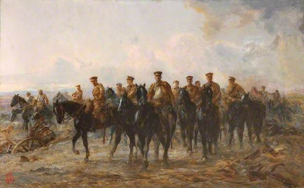 The Royal Horse Guards Retreat from Mons, 1914 - Elizabeth Southerden Thompson Butler, 1927
