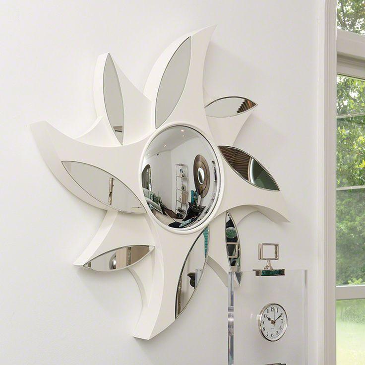 Global Views Pinwheel Mirror   Ivory