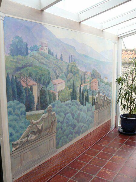 Wandmalereien und Wandgemälde von Govert Muijs | Landschaft, Wandmaler…
