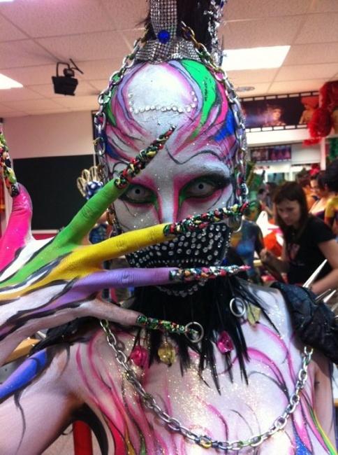 Body by Natalia make up. Exhibición teatro via litmind.com