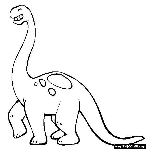 brontosaurus coloring page free brontosaurus online coloring - Dinosaur Outline Coloring Pages
