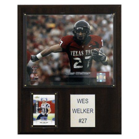 C Collectables Ncaa Football 12x15 Wes Welker Texas Tech Red Raiders Player Plaque