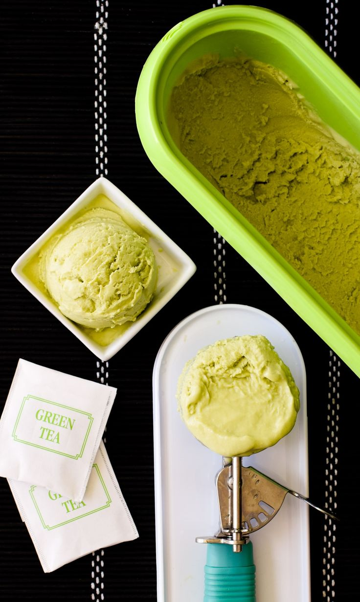 Dairy Free Green Tea Ice Cream