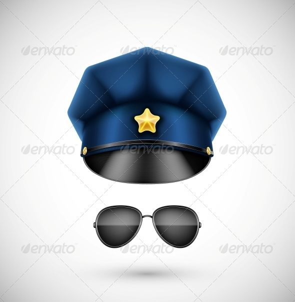 Police Accessories  #GraphicRiver         Police accessories (hat and glasses). Illustration contains transparency and blending effects, eps 10     Created: 13May13 GraphicsFilesIncluded: JPGImage #VectorEPS Layered: Yes MinimumAdobeCSVersion: CS Tags: accessory #badge #black #cap #classic #cop #costume #fashion #glasses #hat #illustration #isolated #law #military #officer #order #police #policeman #profession #protect #protection #safety #secure #security #service #sheriff #style #symbol…