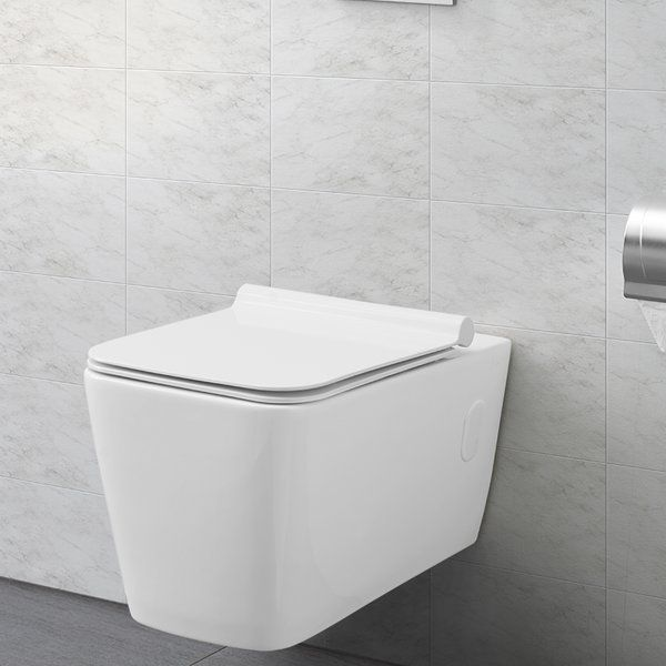 Concorde Dual Flush Elongated Wall Mounted Toilet Seat Included Wall Mounted Toilet Toilet And Bathroom Design Wall Hung Toilet