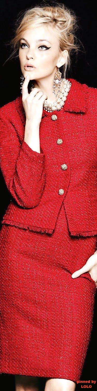 Tahari Metallic Tweed Skirt Suit | LOLO