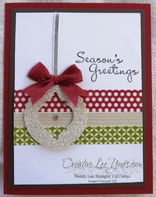 Stylish ornament card, SU cards, christmas, by Wendy Lee, #creativeleeyours, Stampin Up!,
