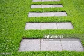 Image result for paving stone in lawn