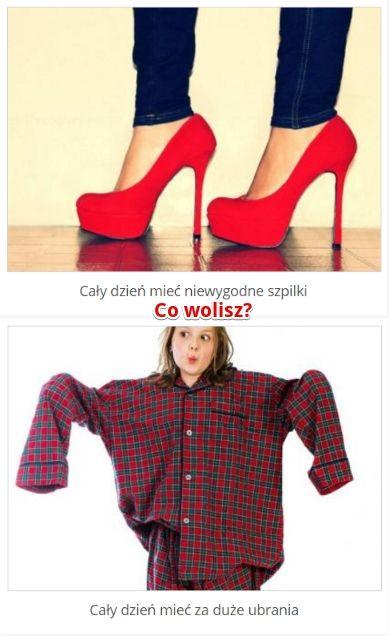 Co wolisz? // http://www.ubieranki.eu/quizy/co-wolisz/560/co-wolisz_.html#CoWolisz