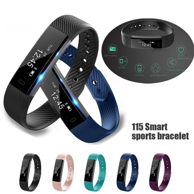 Bluetooth Smart Watch ID115 Wristband Bracelet Pedometer