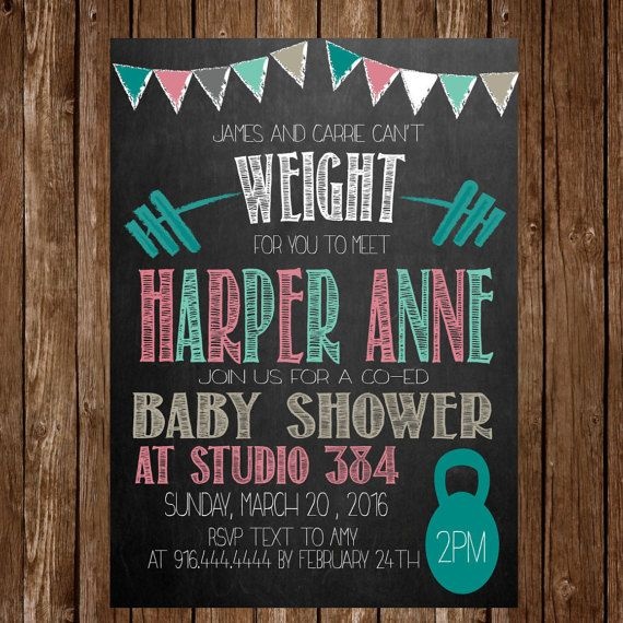 crossfit themed baby shower for girl by icingontheparty on etsy