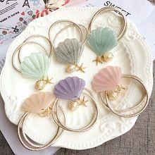 Seashell Haarband Touw Haaraccessoires Elastische Mermaid Haarband Houder Haar Sieraden(China)