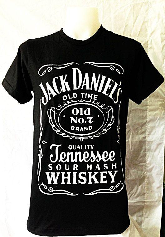 Jack Daniel's Tennessee Whiskey Old Time No.7 Jack Daniels  Women T-Shirt Punk Rock Art Punk Unisex T shirt Rock Men BlackT Shirts Size M on Etsy, $13.99