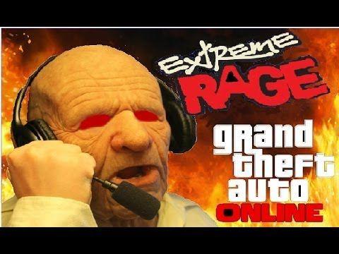 Old man having a extremt