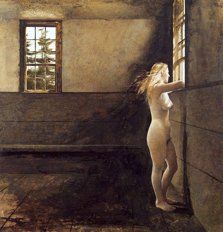 Andrew Wyeth (1917 — 2009, USA) Fair Wind. 1978 dry brush and watercolor on paper. Fukushima Prefectural Museum of Art