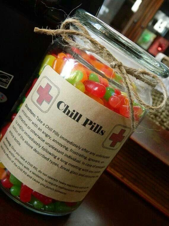 """The holidays can be a bit stressful for anybody. What better way to de-stress than having a few """"Chill Pills"""""""