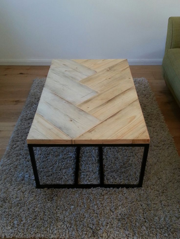 Scaffold board and steel coffee table