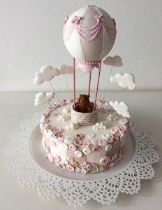 Torta mongolfiera e bottoni Hot air balloon cake