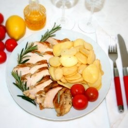 Filetti di Pollo ai Ferri con Patate al Forno 250 gr.  #carne #meat #italianfood