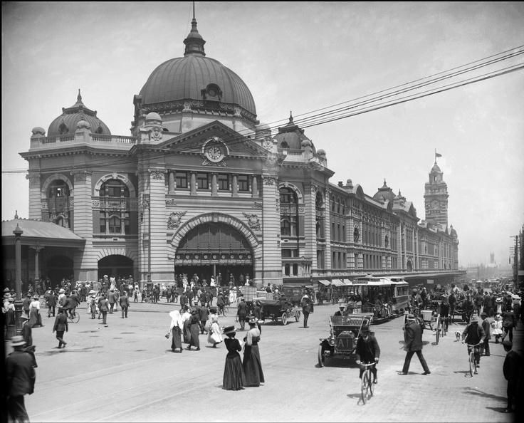 1900's Flinders Street Station Melb