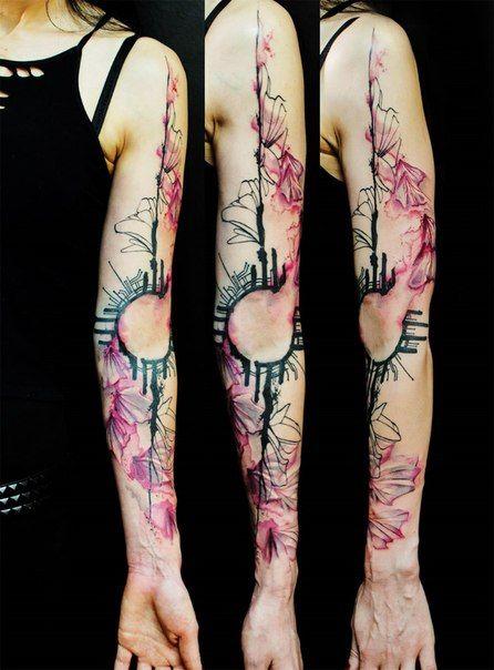 Акварельные татуировки | 125 фотографий
