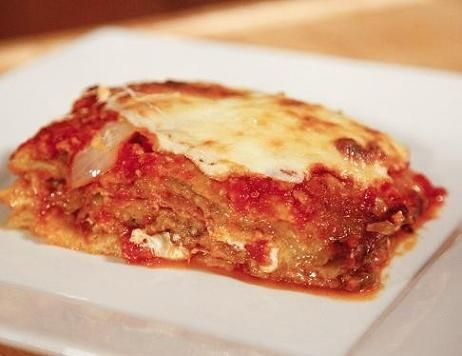 Eggplant Parmigiana with Mortadella... a classic from Puglia as showcased on the Food Network - 24 Hour Restaurant Battle by Team Nonna!