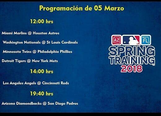 Aquí tenemos la programación del día de hoy los juegos en vivo y totalmente GRATIS en www.imparable-tv.com  #springtraining #sport #baseball #mlb