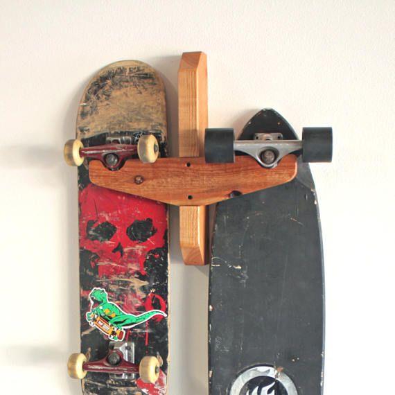 Skateboard Rack  Wall Mount Skateboard Display  2 slot