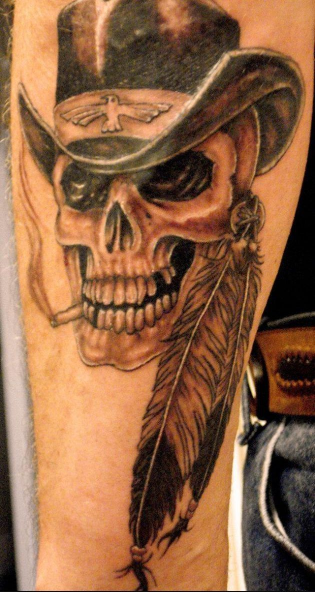 Indian Skull Tattoo Related Keywords & Suggestions - Indian Skull ...