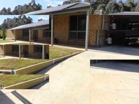 Built on a sloping hill, this 5 year old house has got 3 bedrooms,1 car park, a garage and an outdoor entertaining area with secure yard. This property on sale is located approximately 10 Kms from Myrtleford.