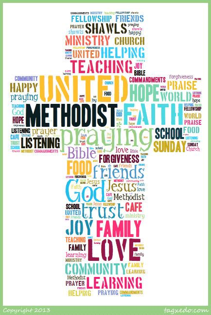 United Methodist Church created using tagxedo.com by me :)