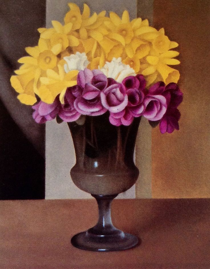 Ispirazioni Armoniche — Antonio Donghi (1897-1963) Vase of flowers, 1928...