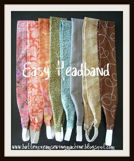 Easy headband tutorial - great use for scraps! I don't wear headbands in front of people, but I love to wear then when I pull my hair back to wash my face.