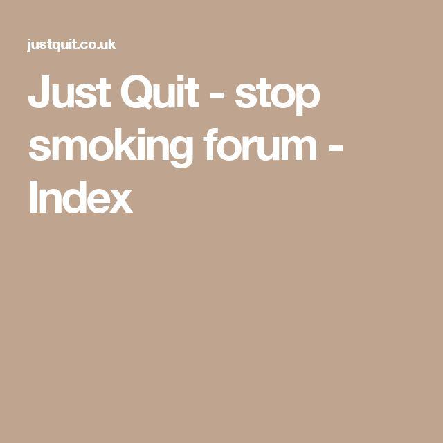 Just Quit - stop smoking forum - Index