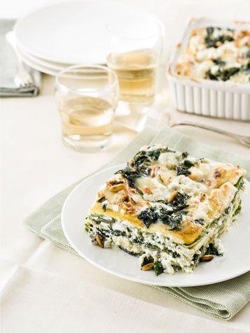 Lasagne al gorgonzola e pinoli