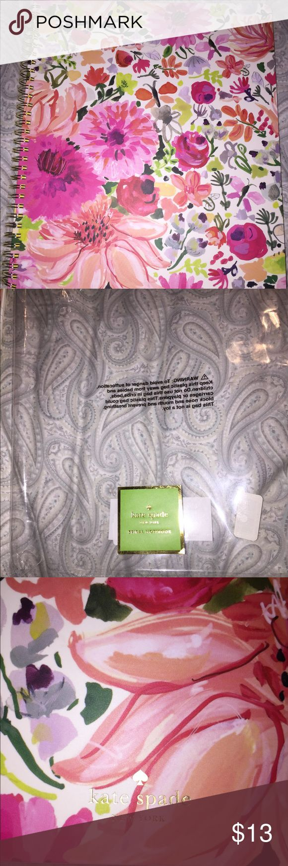 Kate Spade notebook Authentic Kate Spade spiral notebook brand new college rule with inside folder pocket. kate spade Other