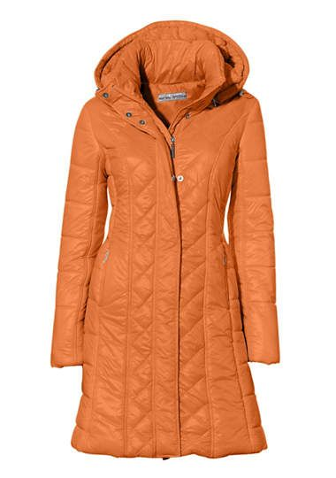 Wattémantel wintercoat jas oranje orange