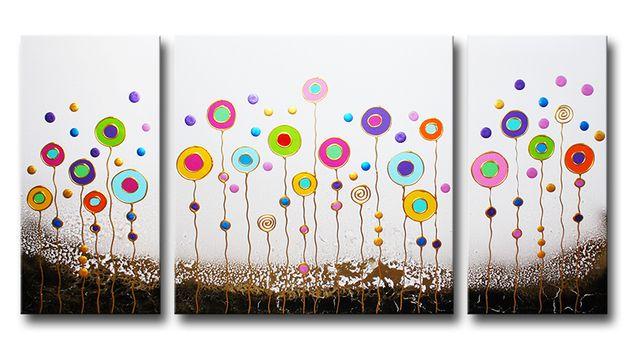 Peintures acryliques peinture tableau oeuvre art abstrait sur toile est une - Comment faire un tableau contemporain ...