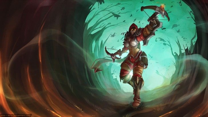 Valla Demon Hunter Diablo Heroes of the Storm Game Art Girl Atryl 1920x1080
