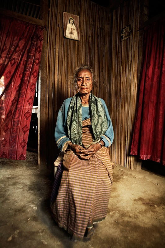 Every Day Life  Portrait  Timorese woman in her house - Rural West Timor, Indonesia, 2008