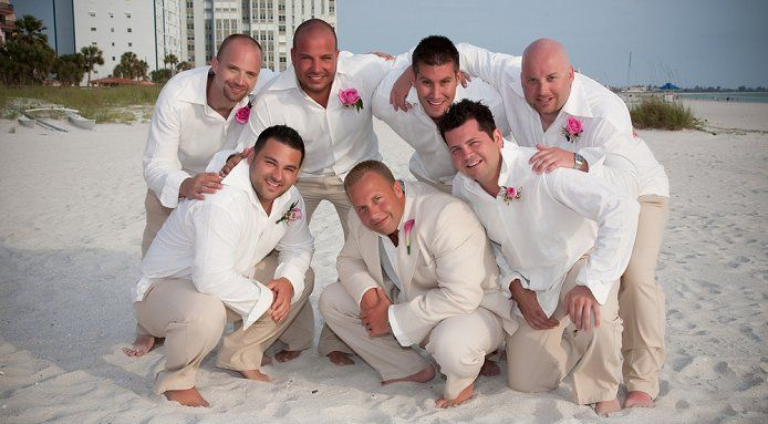 Love this! Men's wear for Island wedding. Khaki linen pants and ...