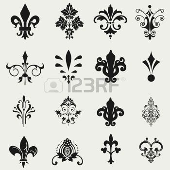 fleurs de lys dessin tatoo. Black Bedroom Furniture Sets. Home Design Ideas