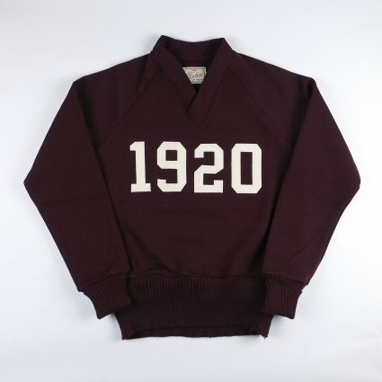 Dehen 1920 Signature V-Neck (Maroon/Off White)